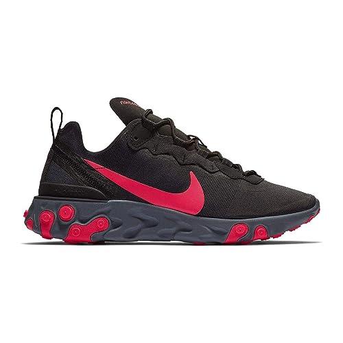 Nike W React Element 55, Zapatillas de Running para Mujer, (Black/Solar Red/Cool Dark Grey 002), 40 EU: Amazon.es: Zapatos y complementos