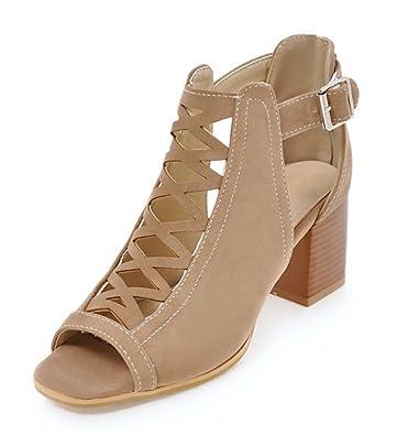 c0049e3909 Amazon.com | Aisun Women's Stylish Peep Toe Buckle Dress Block Medium Heels  Gladiator Sandals Shoes | Heeled Sandals
