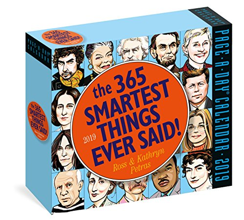 365 Smartest Things Ever Said! Page-A-Day Calendar 2019 ()