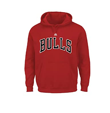 Image Unavailable. Image not available for. Color  Majestic Big   Tall  Chicago Bulls Logo Hoodie 235fedd27