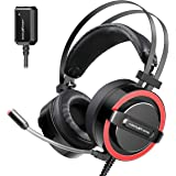 ABKONCORE CH713M Gaming Headset Esport with 7.1 Sound Card, Gaming Headphones for PS4, PC, Xbox, Nintendo Switch, Laptop…