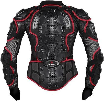 Image ofRopa Resistente a los Golpes Caballero de la Armadura para Ropa Resistente a los Golpes del Deporte de la Motocicleta para el Equipo de Deportes al Aire Libre Rojo XXL