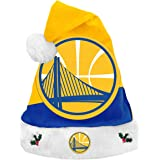 Forever Collectibles Golden State Warriors 2018 NBA Basic Logo Plush  Christmas Santa Hat 349428cef