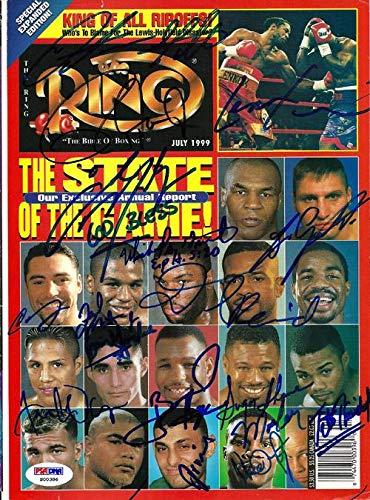 Arturo Gatti, Floyd Mayweather Jr, Roy Jones Jr, Oscar De La Hoya & Lennox Lewis Autographed The Ring Magazine Cover #S00386 PSA/DNA Certified