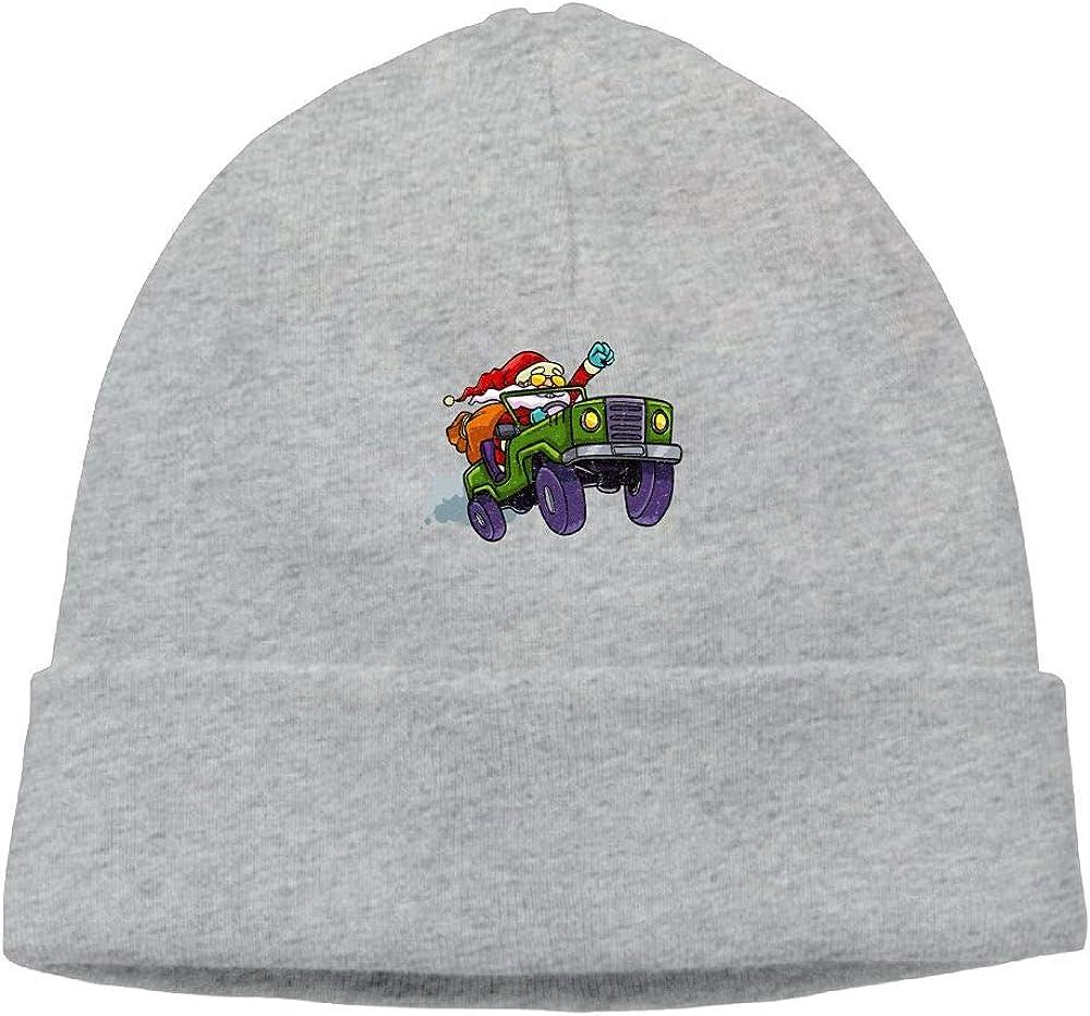 Santa Jeep Beanie Knit Hats Ski Caps Mens