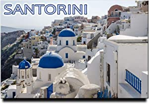 Santorini Fridge Magnet Thera Travel Souvenir Greece