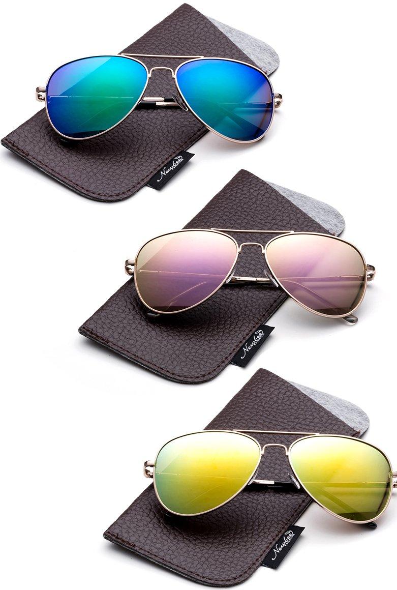 Kids Juniors Aviator Polarized Sunglasses HQ Durable Stainless Steel Frame Kyra Kids