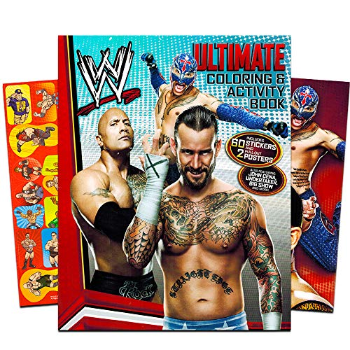 WWE World Wrestling Shaped Coloring Book with Stickers ()