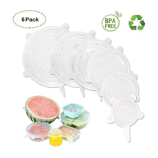HSYTEK 6 Tapas de Silicona Extensibles sin BPA ...