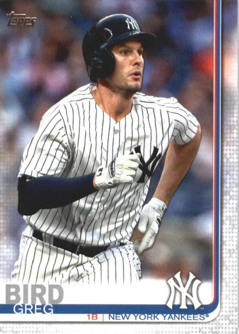 2019 Topps #653 Greg Bird New York Yankees Baseball Card