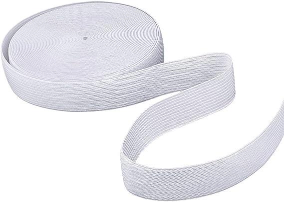 Cinta elástica de costura plana blanca ideal para coser cinturones ...