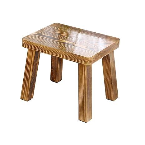 Muebles Modernos CAICOLORFUL Taburete bajo de Madera de Pino ...