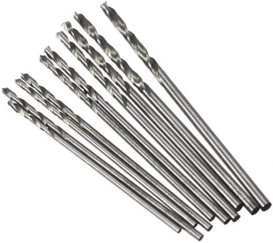 SXM-SXM Drill 10pcs 0.8-1.5mm Mini Twist Drill Bit for PCB Board Wood Plastic Drill Accessories Drill