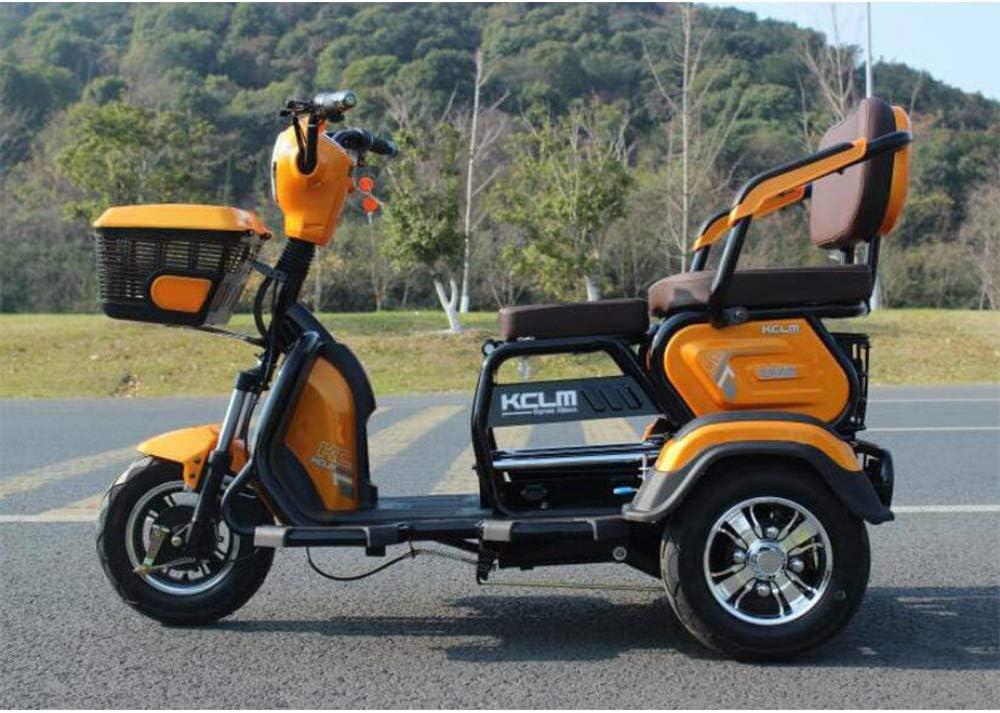 MMRLY Triciclo eléctrico, 3 Rueda de Bicicleta Vespa, 60V 20A / más Alta Velocidad de 40 km/h -500W / 200 kg, para Ancianos discapacitados Hombres Mujeres Enviar a los niños a la Escuela