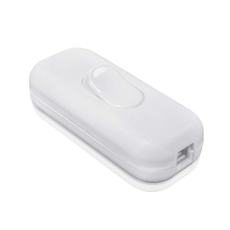 Schnurschalter 1-pol., 250V, 2A, Lampen-Schalter für 2- und 3-adrige ...
