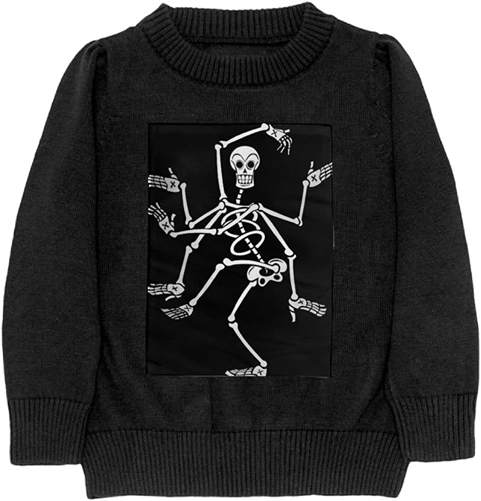 DTMN7 Human Skeleton Teens Sweater Long Sleeves Crew-Neck Youth Athletic Casual Tee Junior Boys