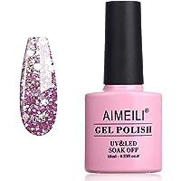 AIMEILI Soak Off UV LED Gel Nail Polish - Princess Glitter (049) 10ml