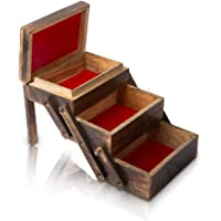 Great Birthday Gifts Handmade Decorative Wooden Jewelry Box Organizer Cabinet Drawer Keepsake Box Treasure Chest Trinket…