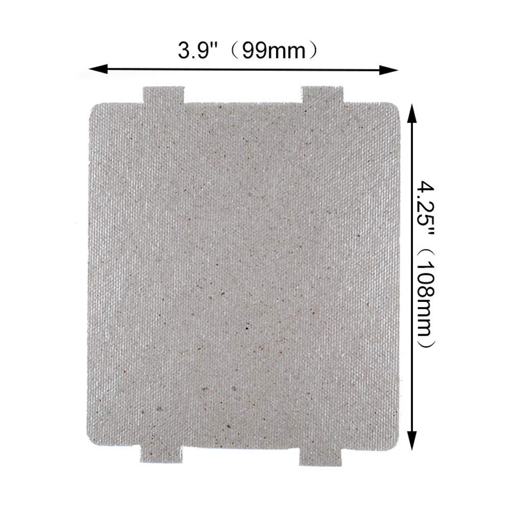 2 Pack Microwave Oven Repairing Part Mica Plates Sheets Waveguide Cover for Frigidaire 5304464061