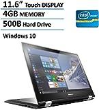 "2016 Lenovo Flex 2-in-1 11.6"" Touchscreen Convertible Laptop (Tablet), Intel Dual Core N3050 Processor, 4GB DDR3, 500GB HDD, HDMI, 802.11AC Wifi, Windows 10"