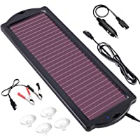POWOXI 1.8W 12V Solar Car Battery Charger Maintainer, Portable Solar Panel Trickle Charging Kit for Automotive, Motorcycle, Boat, ATV,Marine, RV, Trailer, Powersports, Snowmobile, etc.