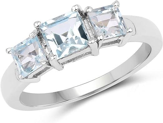 Natural Aquamarine Ring Aquamarine Wedding Ring Gemstone Ring Silver Birthstone Rings Aquamarine Ring Oval Cut Aquamarine Wedding Ring
