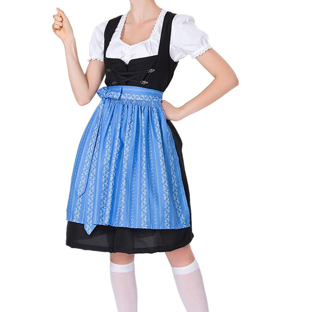 Women's Cosplay Costumes, ✔ Hypothesis_X ☎ Beer Festival Dress Bavarian Beer Festival Beach Mini Dress Blue