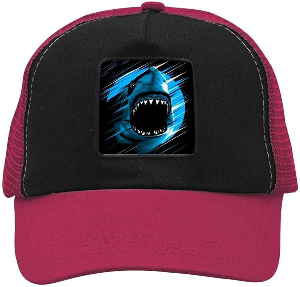 BMN&GAO Shark Moon Lines Baseball Cap Hat Adjustable Mesh Trucker Baseball Cap Hat for Women Men Girl