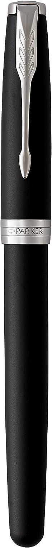 Parker Sonnet 1931496 Stylo roller Pointe Fine Noir avec Section Noir