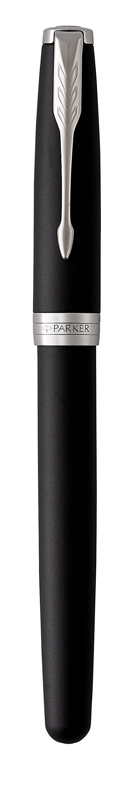 PARKER Sonnet Rollerball Pen, Matte Black Lacquer with Palladium Trim, Fine Point Black Ink (1931523) by Parker (Image #6)