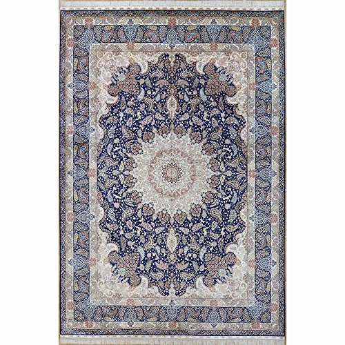 Camel Carpet Silk Rug Large Persian Isfahan Area Rugs 10x14ft