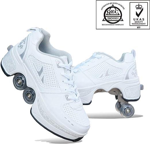 Multifunktionale Deformation Schuhe Quad Skate Rollschuhe Skating Outdoor Sportschuhe für Erwachsene
