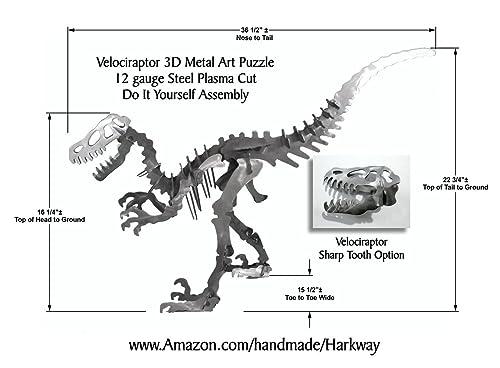 Amazon 36 12 X 22 34 Velociraptor Dinosaur 3d Metal Art