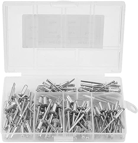 200pcs Aluminium Blind Rivet for Furniture 3.2//4.0//4.8mm Black Blind Rivets Fasteners Assortment Kit with Storage Case