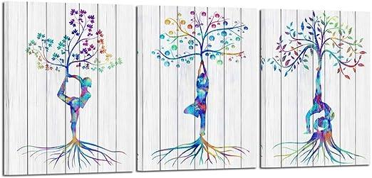 India Yoga Hands Tree Art Print Home Decor Wall Art Poster
