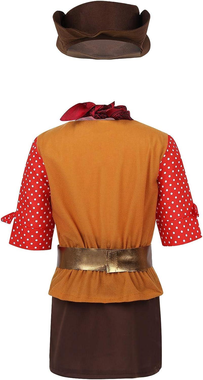 TiaoBug Disfraz de Vaquera Niñas de 5 Piezas Conjunto Costume ...