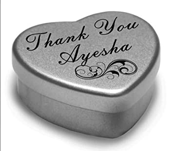 0b4e10391616c Perfect Way to Say Thank You Ayesha With A Mini Heart Tin Gift Present with  Chocolates .