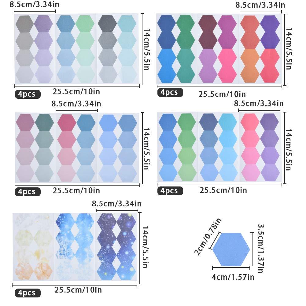 480 Pezzi Segnapagina con Etichetta Include Vari di Colori Segnapagina Etichette Adatta per Ufficio Aula Prendere Nota di Un Memo Lanthour Etichette Adesive Colorate