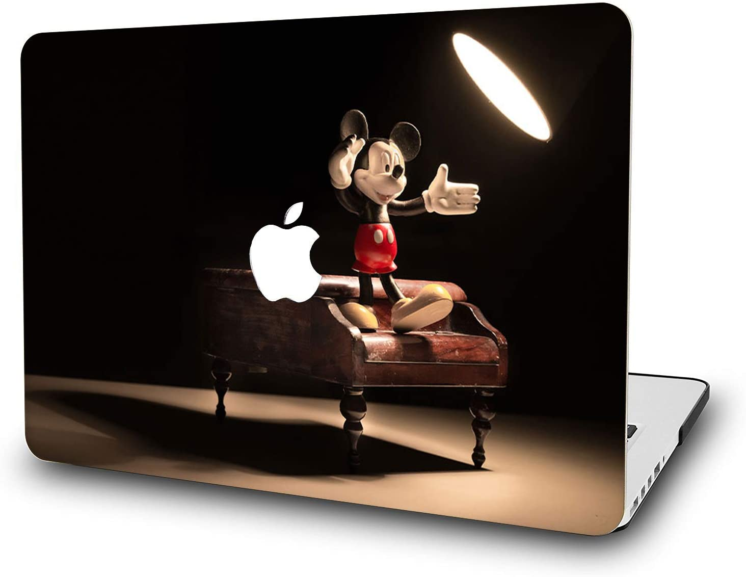 "MacBook Air 11 Inch Case - L2W Laptop Accessories Hard Plastic Printed Cover for Apple Mac Air 11.6"" with Two USB 3 Ports, Model: A1465/A1370, Protection Shell of Design Mickey"