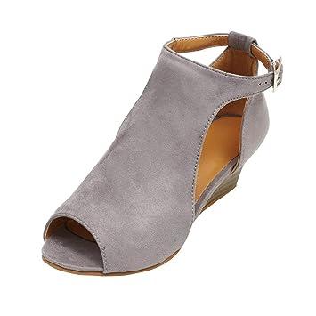 Para Cuña Qiusa Con Tacón Mujer Sandalias Moda De Plataforma Peep f7vI6Ybgy