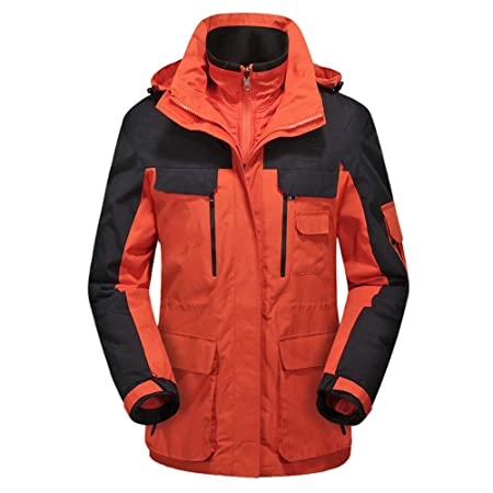 090865455 ChenYongPing Men's Waterproof Jacket Mountain Wear Waterproof Ski Jacket  Outdoor Jacket Windproof Ski Rain Snow Jacket
