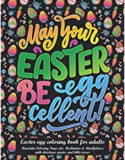 easter egg coloring book for adults: mandala Coloring Pages for Meditation and Mindfulness with christians quotes and bible verses,geometric easter egg pattern to color perfect as easter bunny holiday gift for seniors