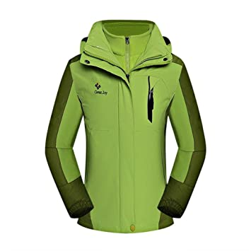 05a1c7c443 XLHGG Women Soft Shell Ski Jacket 3-in-1 Two-piece Fleece Lined ...