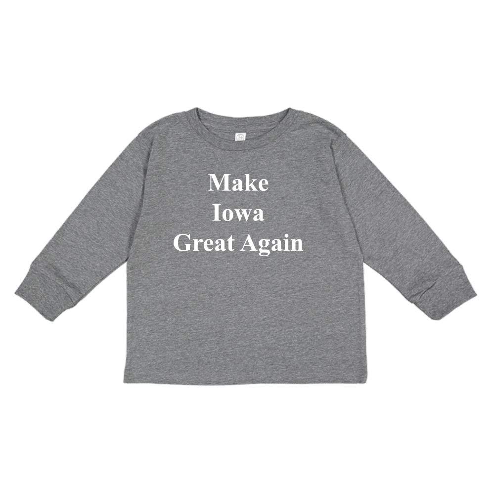 Mashed Clothing Make Iowa Great Again MAGA Trump Republican Toddler//Kids Long Sleeve T-Shirt