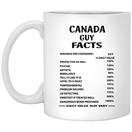 Amazon CANADA GUY FACTS Coffe Mug