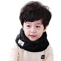 Bufanda de cuello para niño, otoño, de punto cálido, grueso, para cuello y nariz, térmica corto, bufanda de esquí…