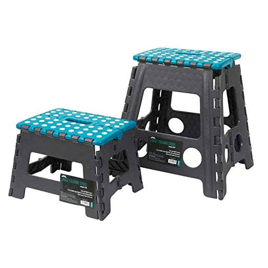 JVL Small u0026 Large Folding Step Stool ...  sc 1 st  Amazon UK & JVL Small u0026 Large Folding Step Stool Teal: Amazon.co.uk: Kitchen ... islam-shia.org