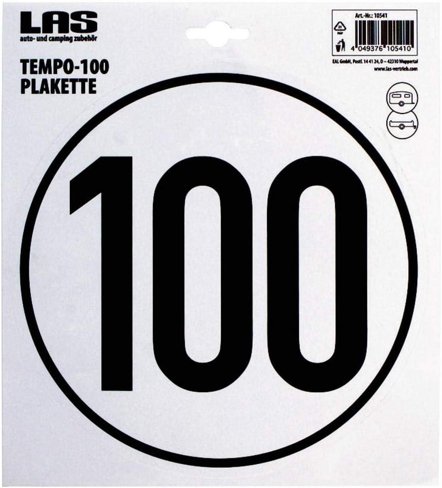 Las Tempo 100 Plakette Selbstklebend Für Lkw Elektronik