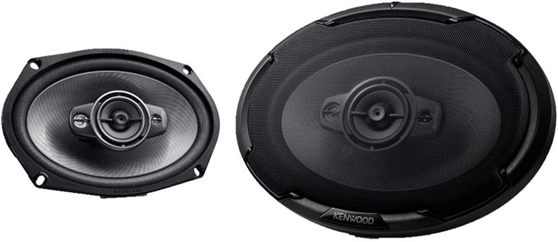 "Kenwood KFC-D691 600 W Max 4-Way 6/"" x 9/"" 4-Ohms Stereo Car Audio Speakers"
