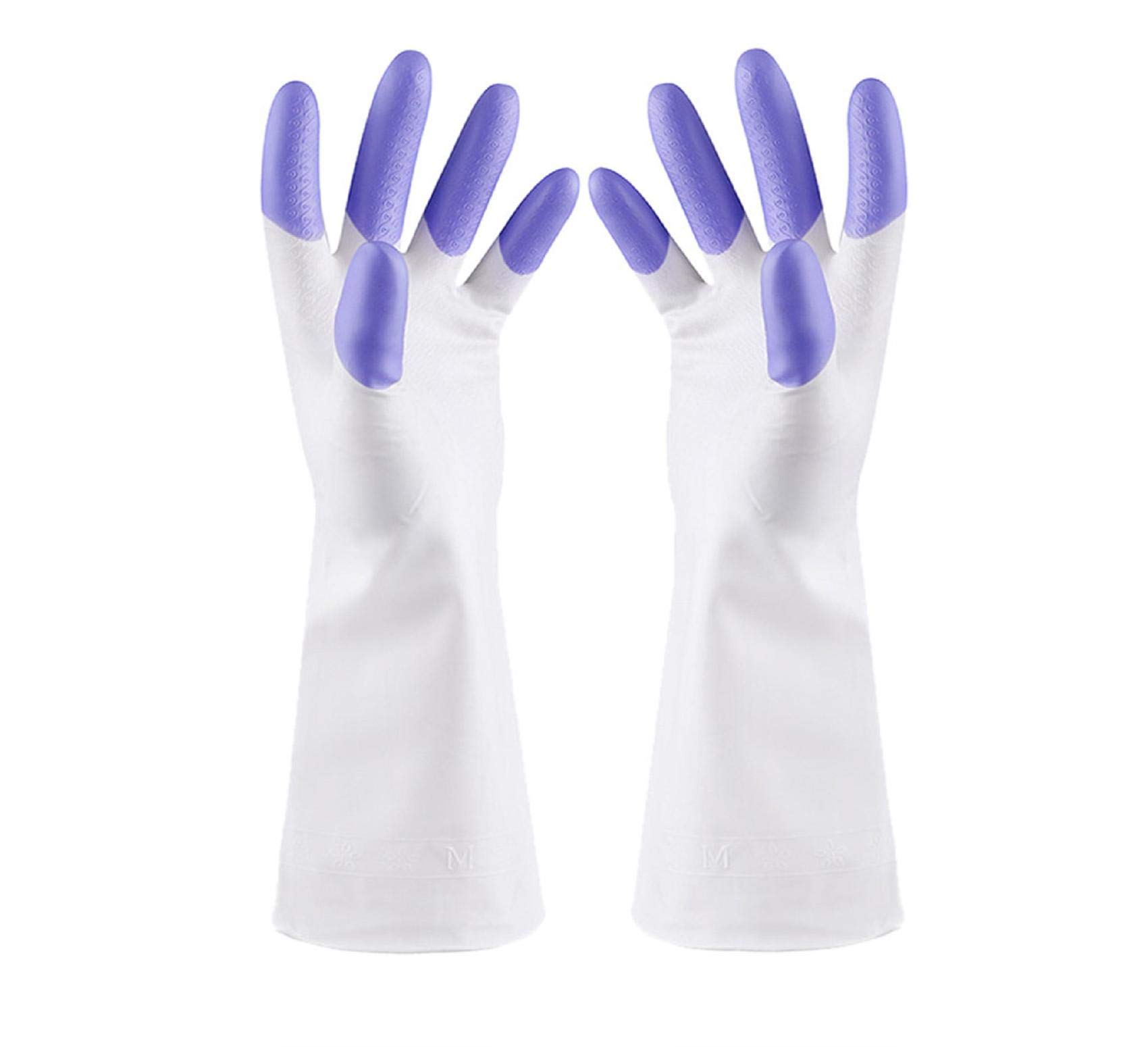 Vertily Pair Gloves,2 Pairs Rubber Gloves Latex Free Kitchen Cleaning Gloves Household Waterproof Dishwashing Living M Tools Home Decoration